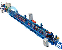 The solar support roll forming line