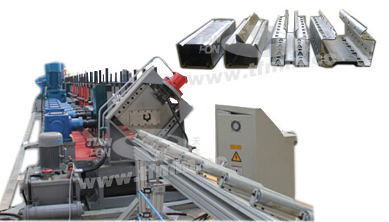 Cross beams roll forming line
