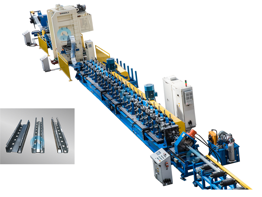 Shelves and racking system roll forming machine