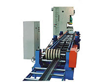 Groovy tray roll forming machine