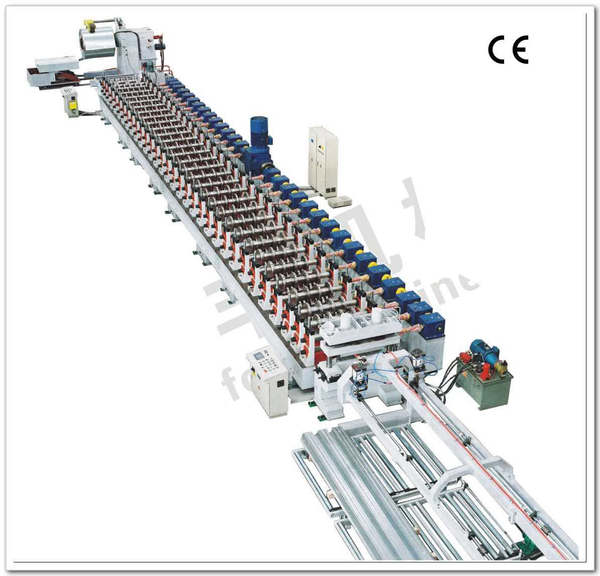 Steel structure floor roll forming machine