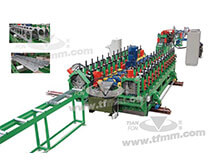Steel support of solar energy roll forming line